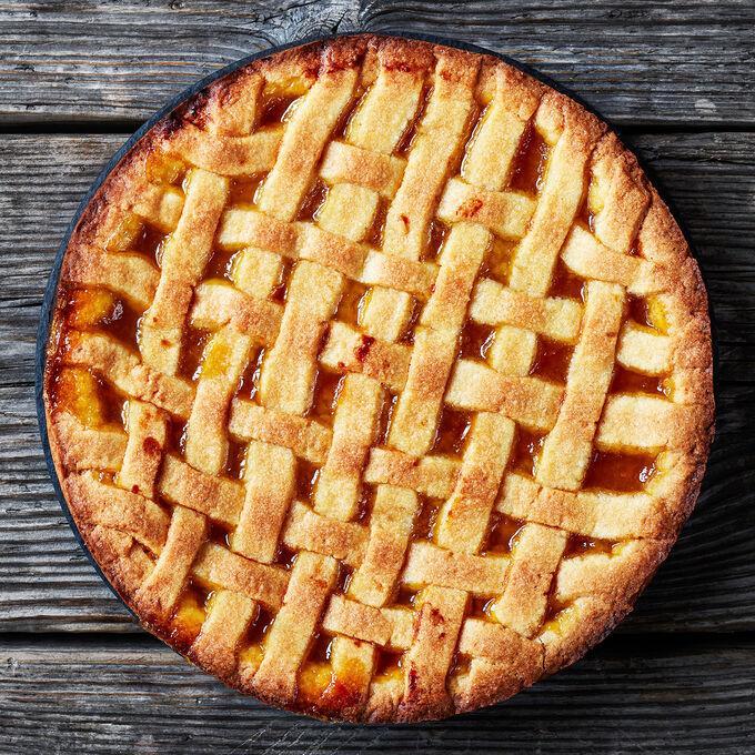 Take & Bake: Lattice-Topped Peach Pie