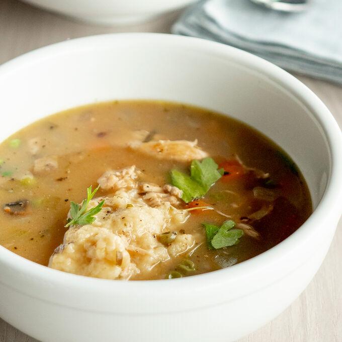 Online Hearty Chicken & Dumpling Soup (ET)