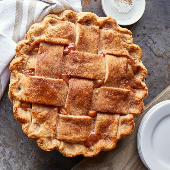 Take & Bake: Salted Caramel Apple Pear Pie + Pie Dish