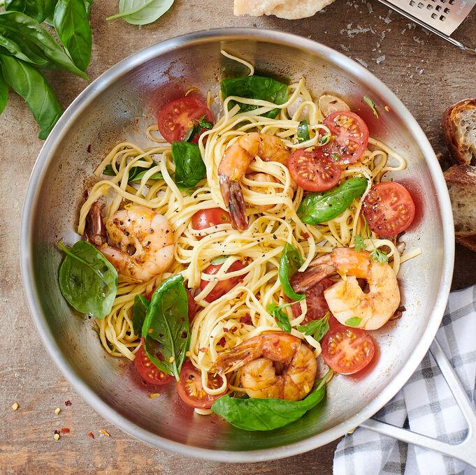 Online Grilled Shrimp with Homemade Pasta (ET)