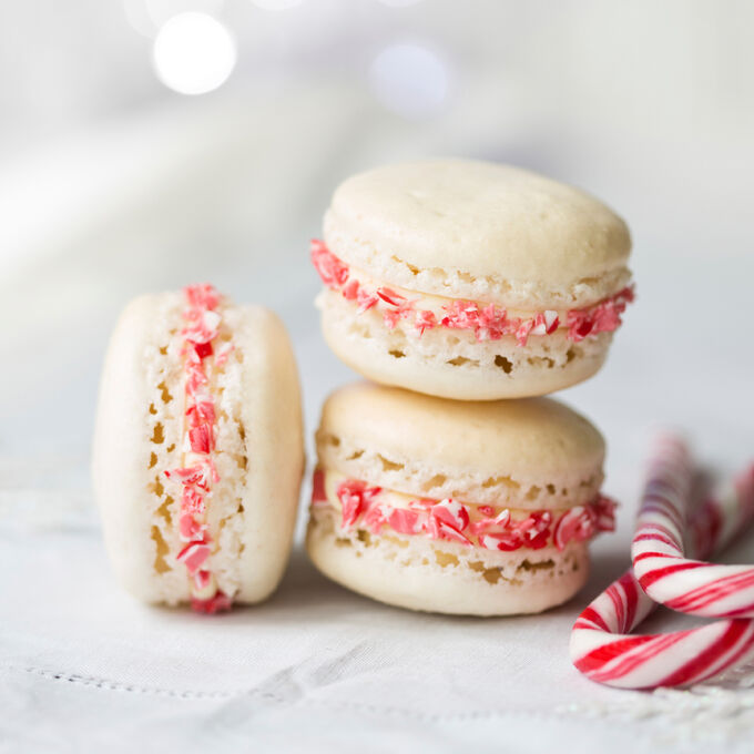 Winter Holiday Macarons
