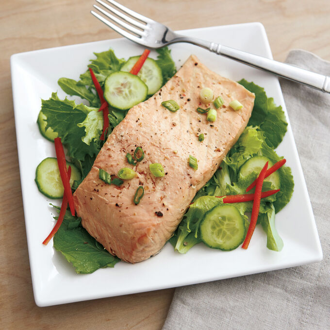 Asian-Style Poached Salmon