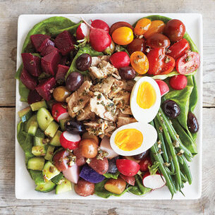Grilled Tuna Niçoise with Anchovy Vinaigrette