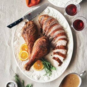 Sous Vide Turkey Breast with Dark Meat Confit and Gravy