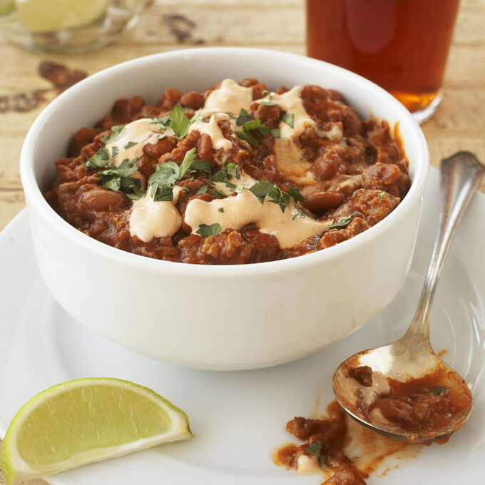 Beef and Bean Chili with Chipotle Cream