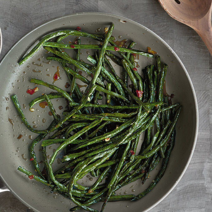 Chinese Long Beans with Chile and Garlic