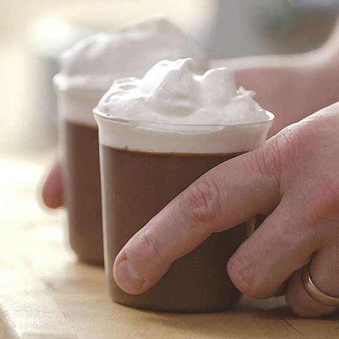 Easy Chocolate-Espresso Pots de Creme