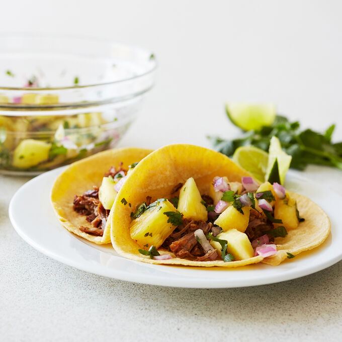 Instant Pot Pineapple and Chipotle Pork Tacos
