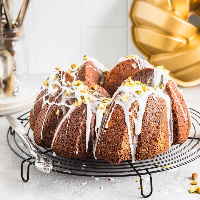 Pistachio Lime Bundt Cake