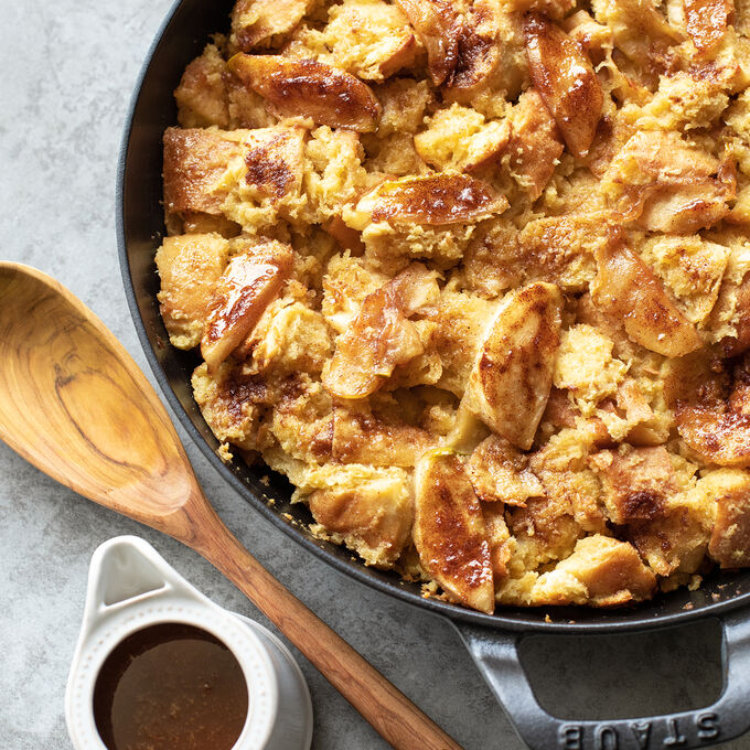 Apple Bread Pudding with Salted Caramel Sauce