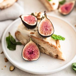 Fig and Pistachio Scones with Mascarpone and Honey