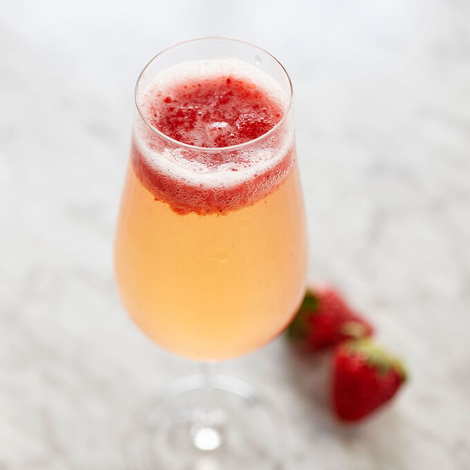 Spring Strawberry Bellini