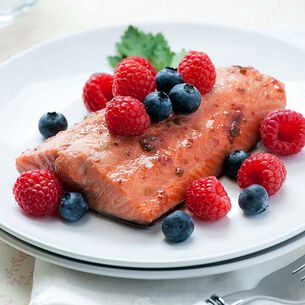 Seared Salmon with Fresh Blackberry Gastrique