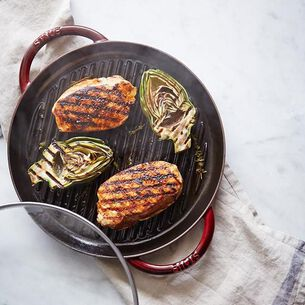 Steam-Grilled Pork and Artichokes