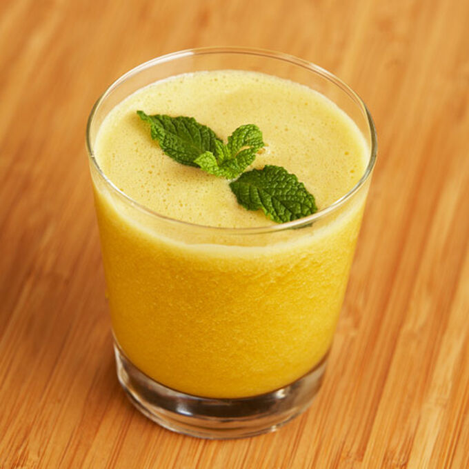 Cantaloupe, Mint and Mango Juice