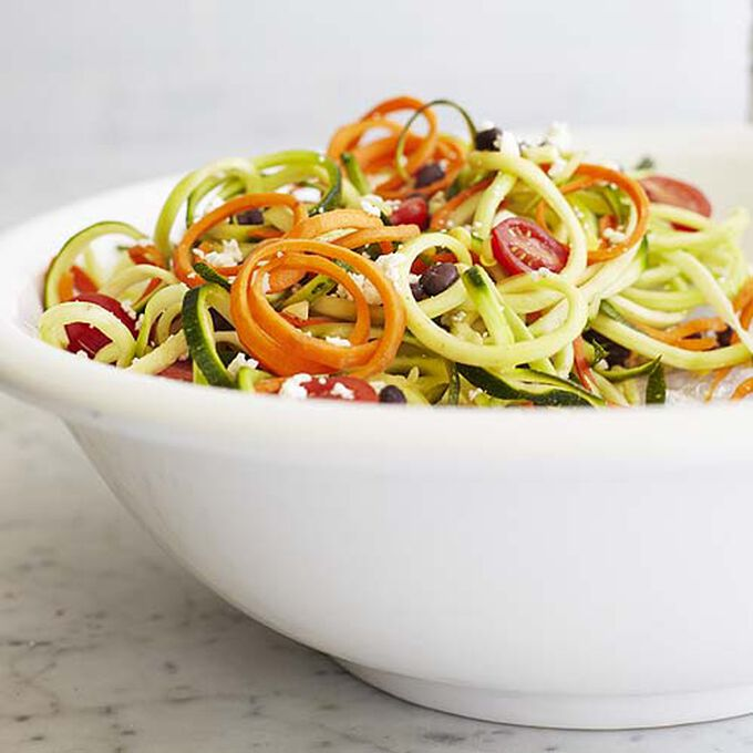 Southwestern Zoodle Salad with Chipotle-Lime Dressing.