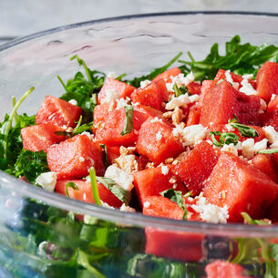 Watermelon Salad with Feta and Fresh Mint