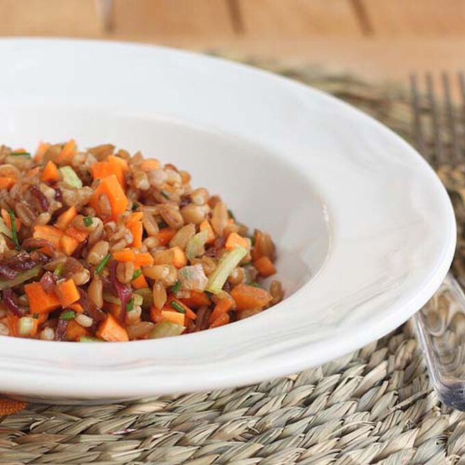 Roasted Fall Vegetables with Farro