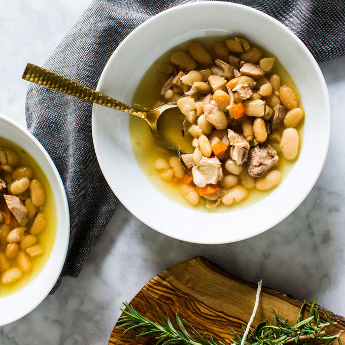 Instant Pot Turkey White Bean Rosemary Soup