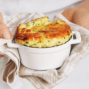Goat Cheese and Herb Souffle