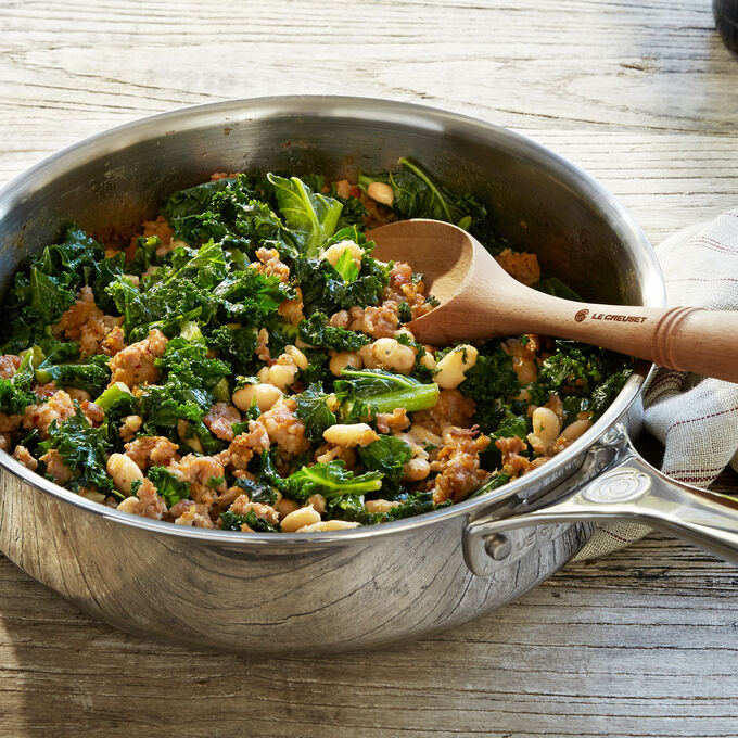 Kale, White Bean and Spicy Italian Chicken Sausage