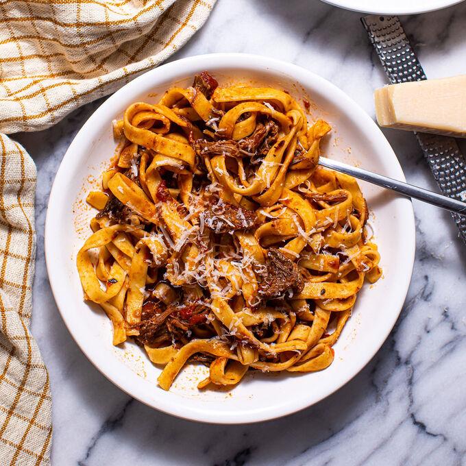 Braised Short Rib Tagliatelle Pasta