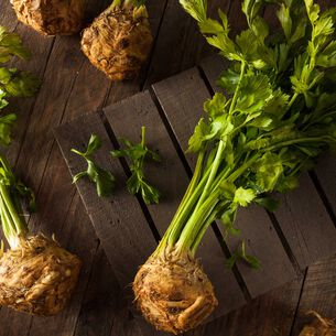 Steam-Grilled Celeriac Fries with Herbs, Pecan and Lemon