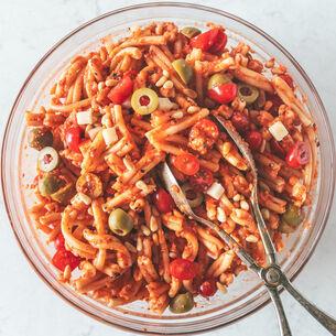 Romesco Pasta Salad