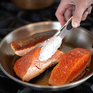 Guinness and Maple Glazed Salmon