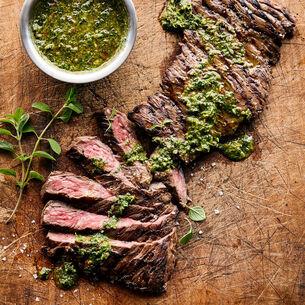 Roasted Steak with Chimichurri Sauce