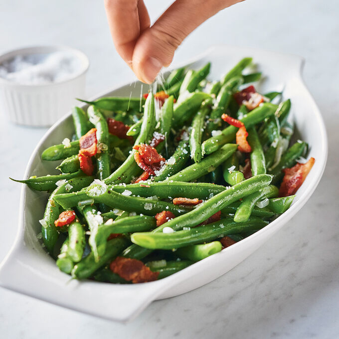 Green Beans with Bacon and Shallots