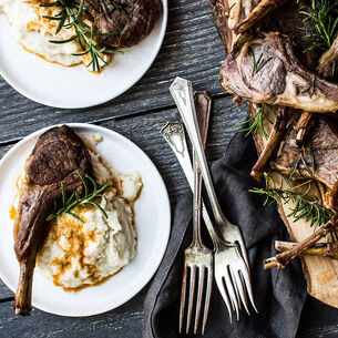Instant Pot Lamb Chops with Creamed Cauliflower