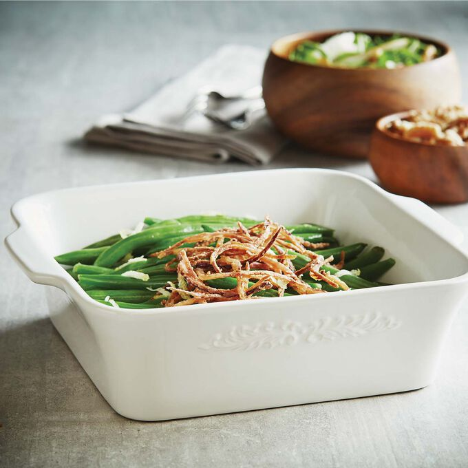 Green Beans with Crispy Spiral Onions