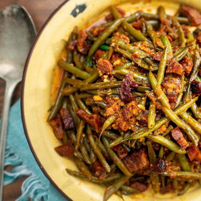 Green Bean with Face Bacon