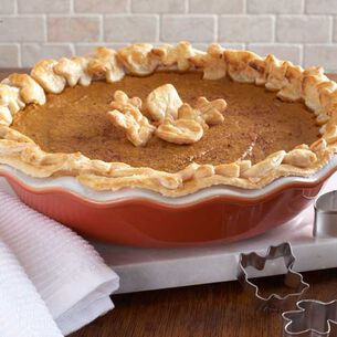 Leaf-Crust Pumpkin Pie