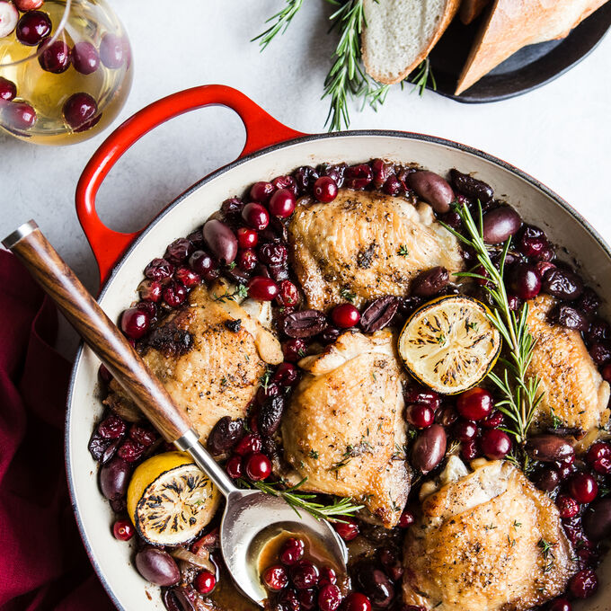One Pot Chicken with Cranberries