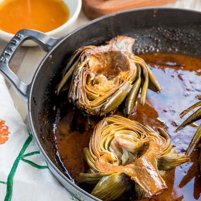 Roasted Artichokes with Korean Butter