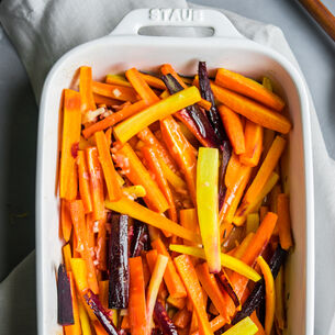 Roasted Rainbow Carrots with Honey