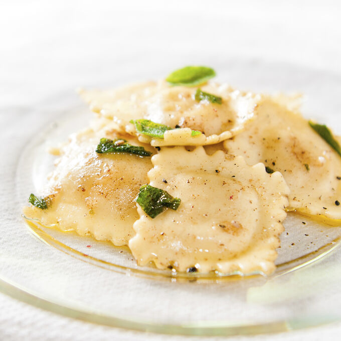 Pumpkin Ravioli with Sage-Brown Butter Sauce