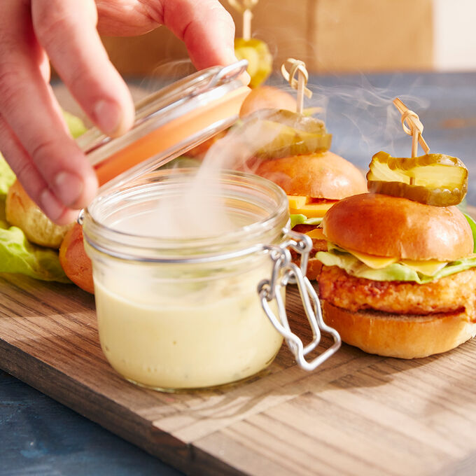 Crunchy Smoked Chicken Breast with Jalapeno Aioli