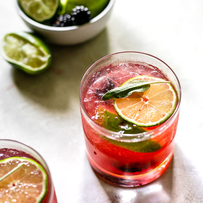 Blackberry Tequila Sage Smash