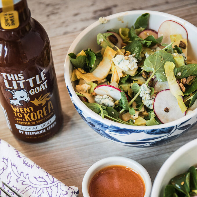 Spring Salad with Spicy Citrus Dressing