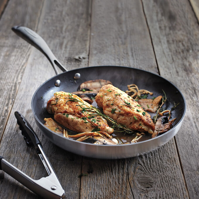 Seared Chicken Breasts with Rosemary and Wild Mushrooms