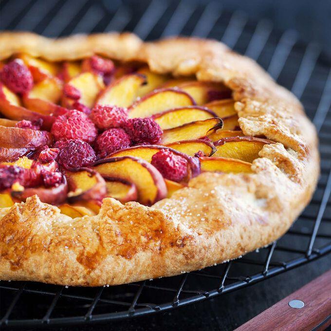 Nectarine and Raspberry Galette