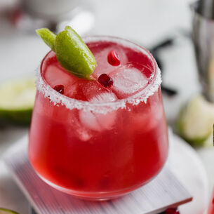 Winter Pomegranate Margaritas