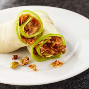 Apple Wraps with Almond Butter and Granola