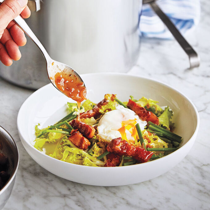 Frisee Salad with Sous Vide Egg