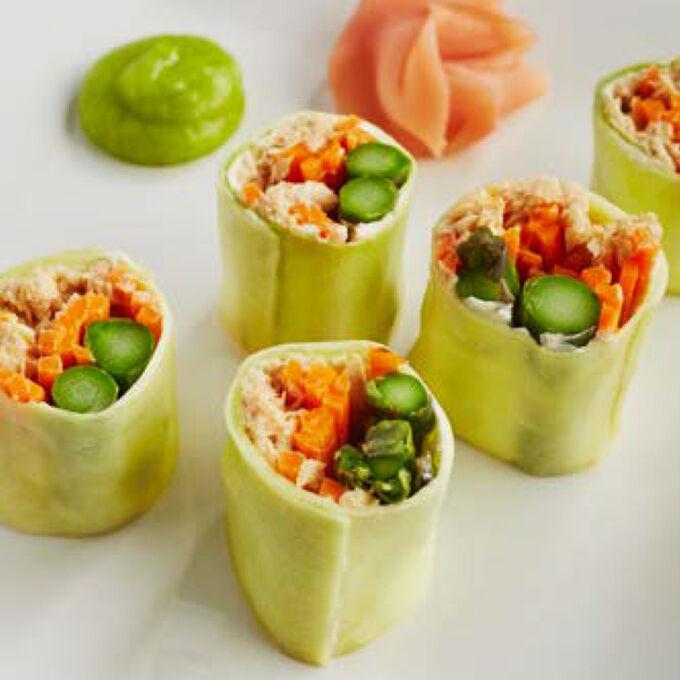 Spicy Zucchini Salmon Roll
