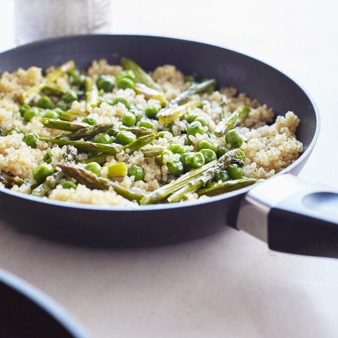 Quinoa Pilaf with Spring Peas and Asparagus