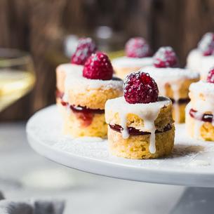 Victoria Sponge Cakes with Elderflower Glaze